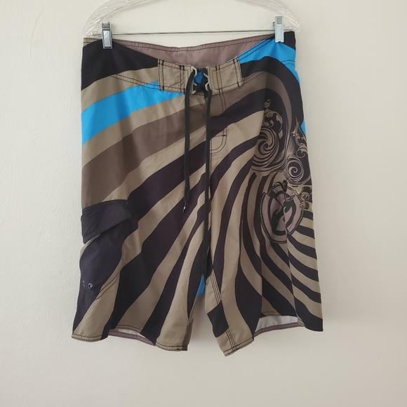 Billabong Psychedelic Swirl Board Shorts sz.33